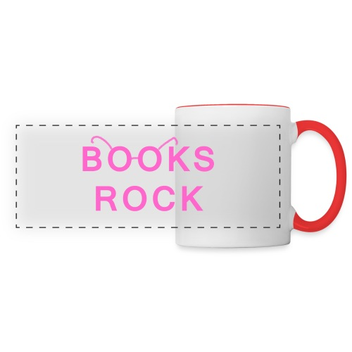 Books Rock Pink - Panoramic Mug