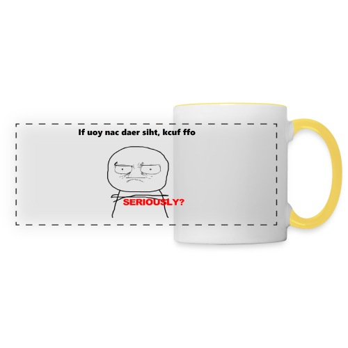 If you can read this f*** off, coffee mug print - Panoramic Mug