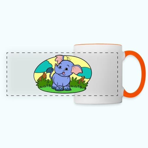 Tiny Elephant Art Collection - Panoramic Mug