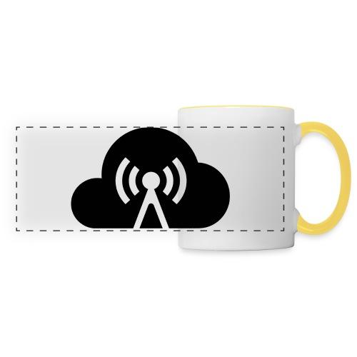 Cloud Cast Wolke schwarz mit Schriftzug - Panoramatasse