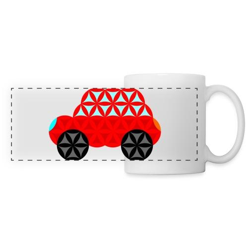 The Car Of Life - M01, Sacred Shapes, Red/R01. - Panoramic Mug