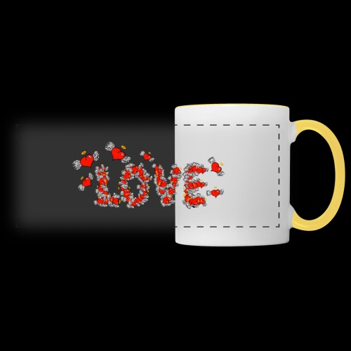 Flying Hearts LOVE - Panoramic Mug
