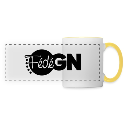Logo FédéGN pantone - Mug panoramique contrasté et blanc