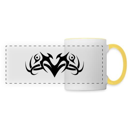 Motif Tribal 8 - Mug panoramique contrasté et blanc