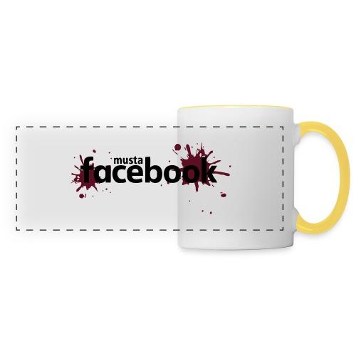 Musta Facebook -t-paita - Panoraamamuki
