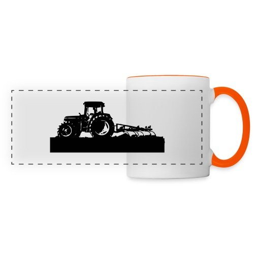 Tractor with cultivator - Panoramic Mug