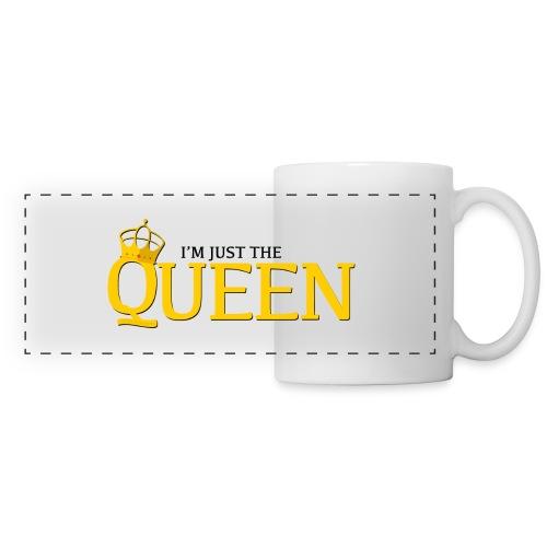 I'm just the Queen - Mug panoramique contrasté et blanc