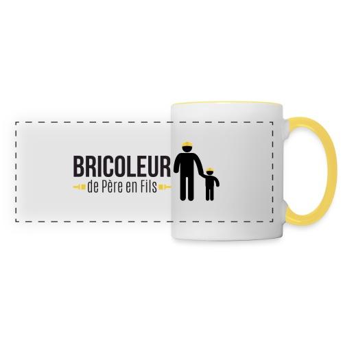 BRICOLEUR DE PERE EN FILS - Mug panoramique contrasté et blanc
