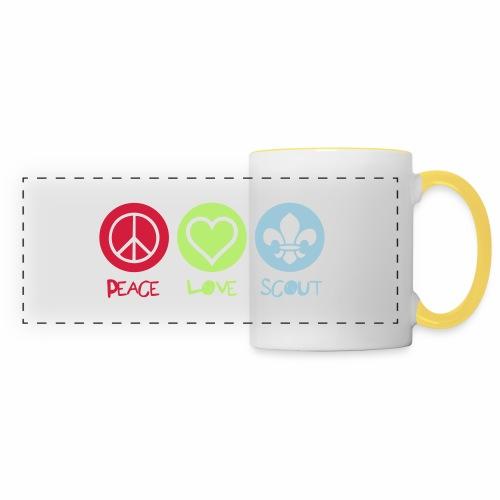 Peace Love Scout - Mug panoramique contrasté et blanc