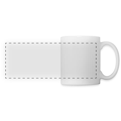illustration logo blanc - Mug panoramique contrasté et blanc
