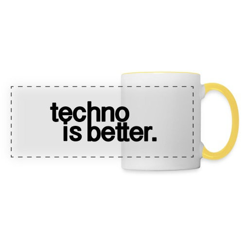 techno is better logo - Kubek panoramiczny