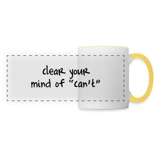 ''Clear your mind of Can't'' Motivational T-shirts - Tazza con vista