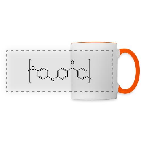 Polyetheretherketone (PEEK) molecule. - Panoramic Mug