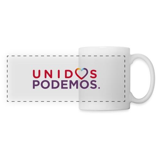 Taza Unidos Podemos 2016 Blanca - Taza panorámica