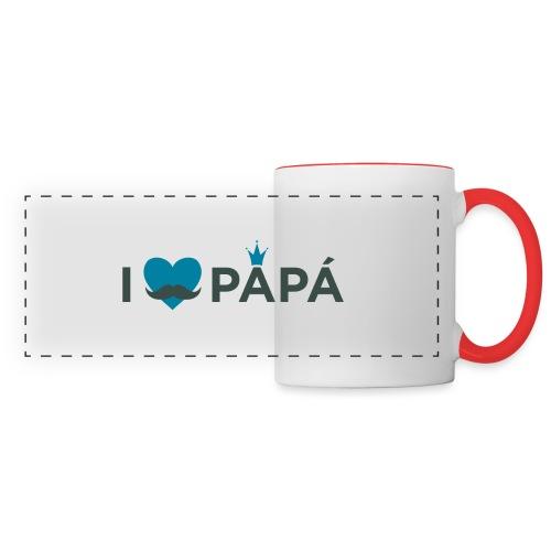 ik hoe van je papa - Mug panoramique contrasté et blanc