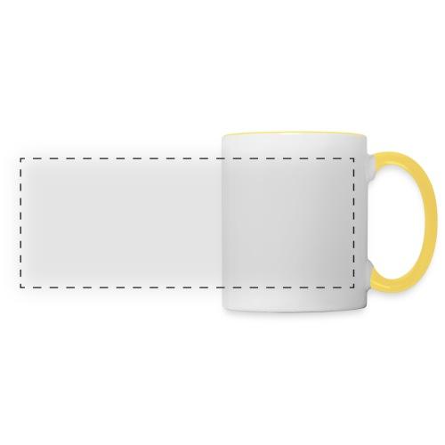 the walking dad white text on black - Panoramic Mug