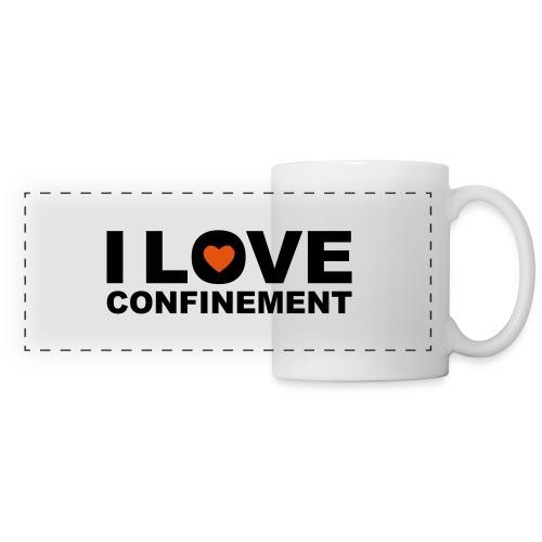 j aime le confinement - Mug panoramique contrasté et blanc