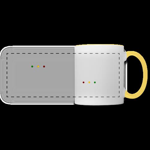Rasta Chenille - Mug panoramique contrasté et blanc