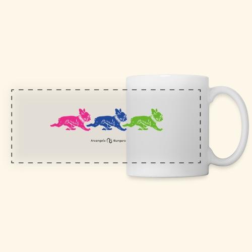 frenchies multicolor - Mug panoramique contrasté et blanc