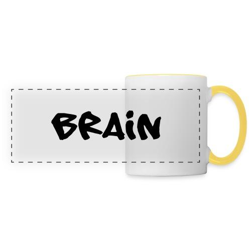 brain schriftzug - Panoramatasse