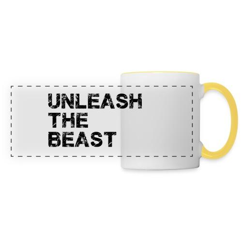 UnleashTheBeast - Mug panoramique contrasté et blanc
