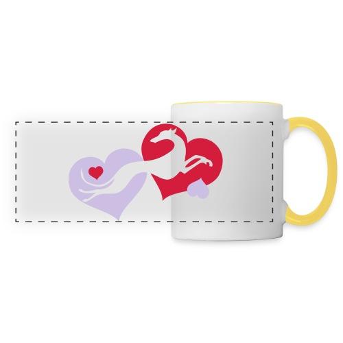 Lévrier Valentin - Mug panoramique contrasté et blanc
