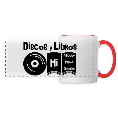 Discos y Libros - Taza panorámica