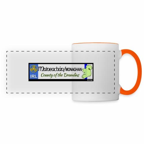 MONAGHAN, IRELAND: licence plate tag style decal - Panoramic Mug