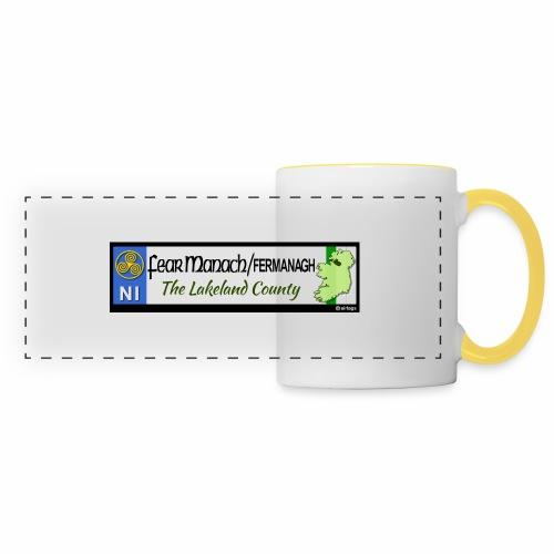 FERMANAGH, NORTHERN IRELAND licence plate tags eu - Panoramic Mug