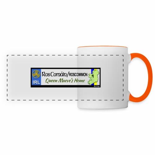 ROSCOMMON, IRELAND: licence plate tag style decal - Panoramic Mug