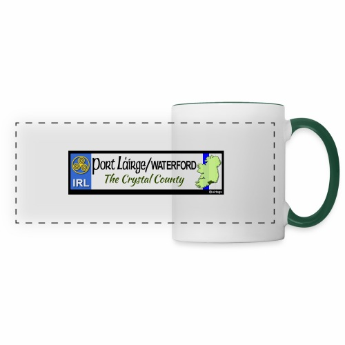 WATERFORD, IRELAND: licence plate tag style decal - Panoramic Mug