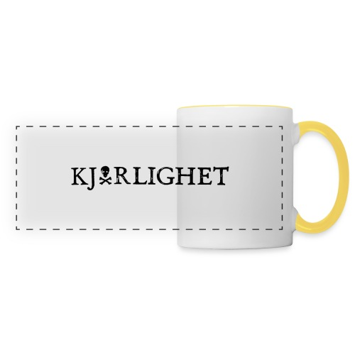Kjærlighet (Love) | Black Text - Panoramic Mug