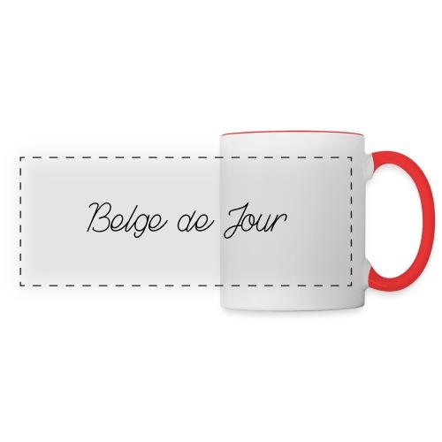 Belge de jour - Mug panoramique contrasté et blanc