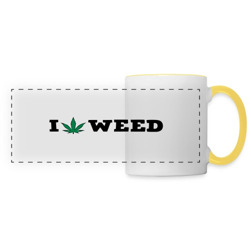 I LOVE WEED - Panoramic Mug