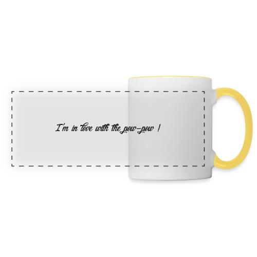 Pow-pow - Mug panoramique contrasté et blanc