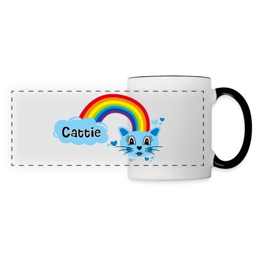 Motif Cattie - Mug panoramique contrasté et blanc