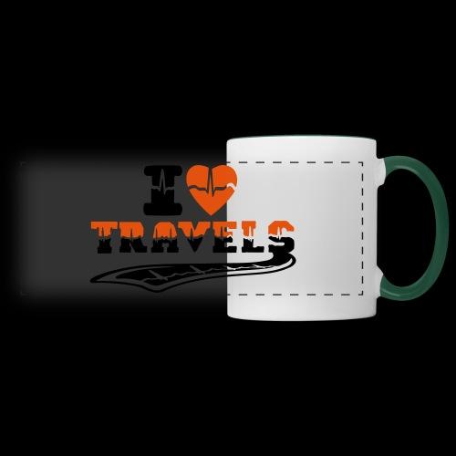 i love travels surprises 2 col - Panoramic Mug