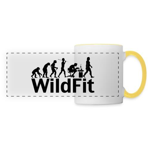 WildFit Logo Evolution in Schwarz - Panoramatasse