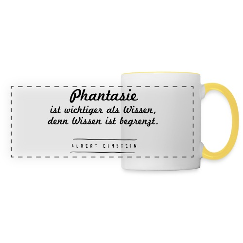 Phantasie vs. Wissen - Panoramatasse