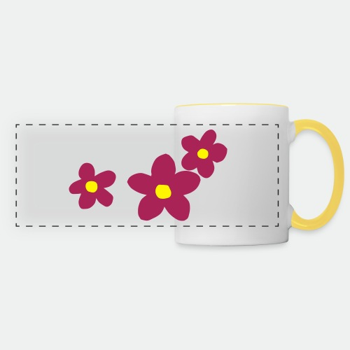 Three Flowers - Panoramic Mug