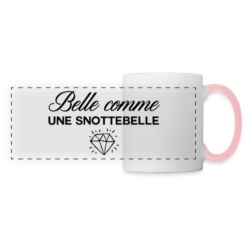 Belle comme snottebelle - Mug panoramique contrasté et blanc