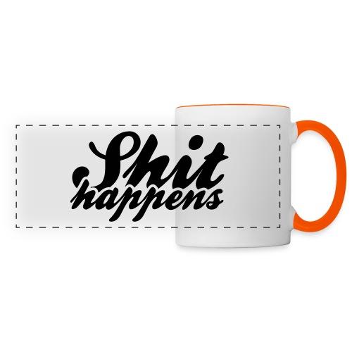 Shit Happens and Politics - Panoramic Mug