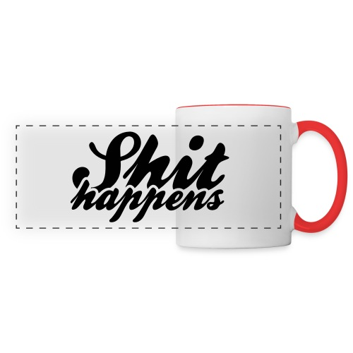 Shit Happens and Politics - Panoramic Mug