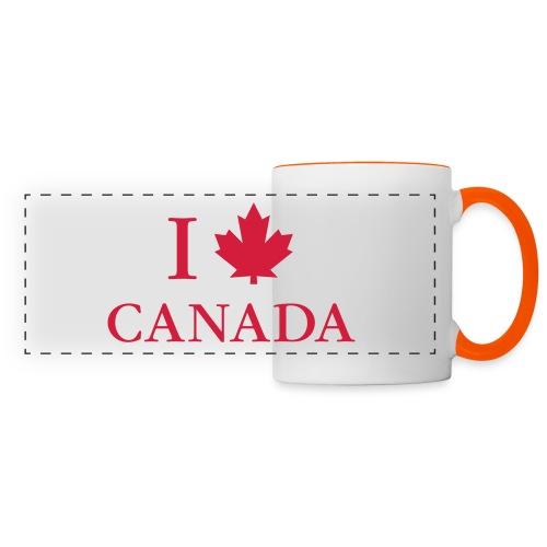 I love Canada Ahornblatt Kanada Vancouver Ottawa - Panoramic Mug