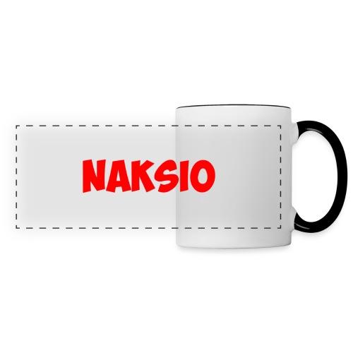 T-shirt NAKSIO - Mug panoramique contrasté et blanc