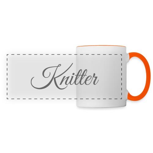 Knitter, dark gray - Panoramic Mug