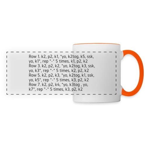 Knit Talk, dark - Panoramic Mug