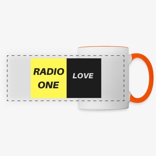 RADIO ONE LOVE - Mug panoramique contrasté et blanc