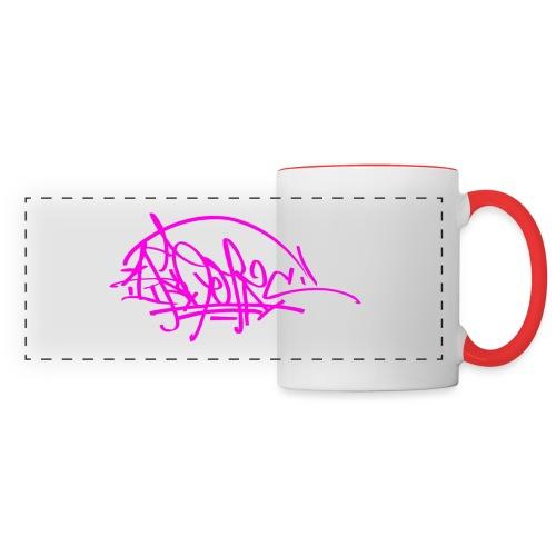 prc ikon rose tag - Mug panoramique contrasté et blanc