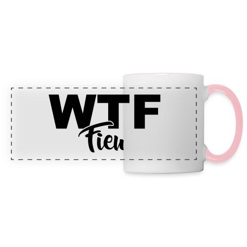 wtf fieu - Mug panoramique contrasté et blanc